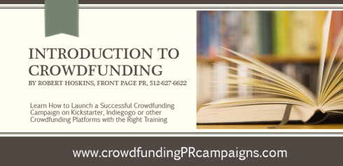 Introduction to Crowdfunding Training Class by Robert Hoskins Front Page PR