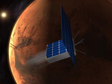 Time to Mars Capsule Ion ElectroSpray Propulsion CubeSat Mars Mission