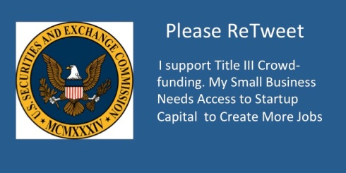 Please Retweet - I suppport Title III Crowdfunding