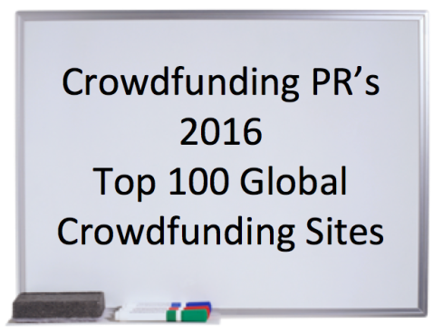 Crowdfunding PR's 2016 Top 100 Global Crowdfunding Sites
