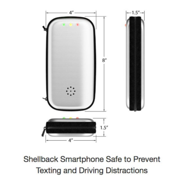 Shellback Smartphone Safe Will Help Drivers Stop Texting and Driving Under New 2017 Laws that Prohibit Texting and Calling While Driving