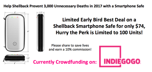 Limited Early Bird Best Deal on a Shellback Smartphone Safe for only $74, Hurry the Perk is Limited to 100 Units