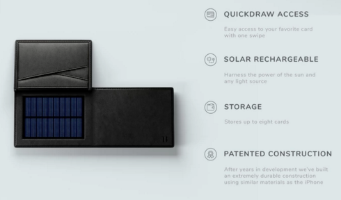 Solar Wallet is a intelligent technology gadget that serves as portable charging system and wallet