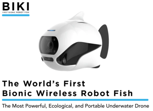 BIKI is the world's first bionic underwater drone that is also the only underwater robot featuring automated balance, obstacle avoidance, and return to base