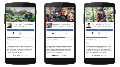 Facebook Rolls Out Crowdfunding Platform and Fundraiser Service for Education, Medical, Pets, Crisis Relief, Personal Loss, Sports and Community Needs