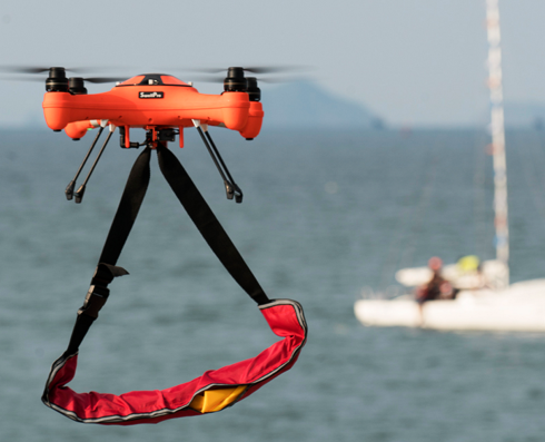 Splash Drone 3 the Waterproof Drone that can Fly in the Air and See Under Water and Could One Day Save a Life is Crowdfunding on Kickstarter