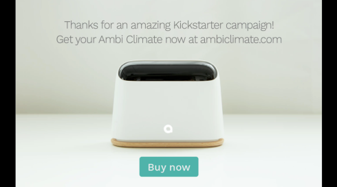 The Ambi Climate that Draws on Data from Sensors and User Feedback to Automatically Tweak a Room's Ambient Temperature and Humidity