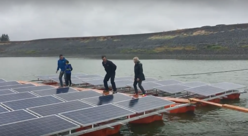 Floating on water, this 1.2 MW solar project in wine country (Sonoma County, California) is part of nearly 20 MW of floating solar projects awarded to Pristine Sun