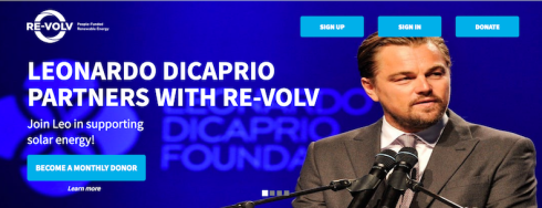 RE-volv and the Leonardo DiCaprio Foundation Offering Hurricane Zones $120,000 of Matching Funds to Install Solar on Schools, Community Centers, Homeless Shelters, and Churches